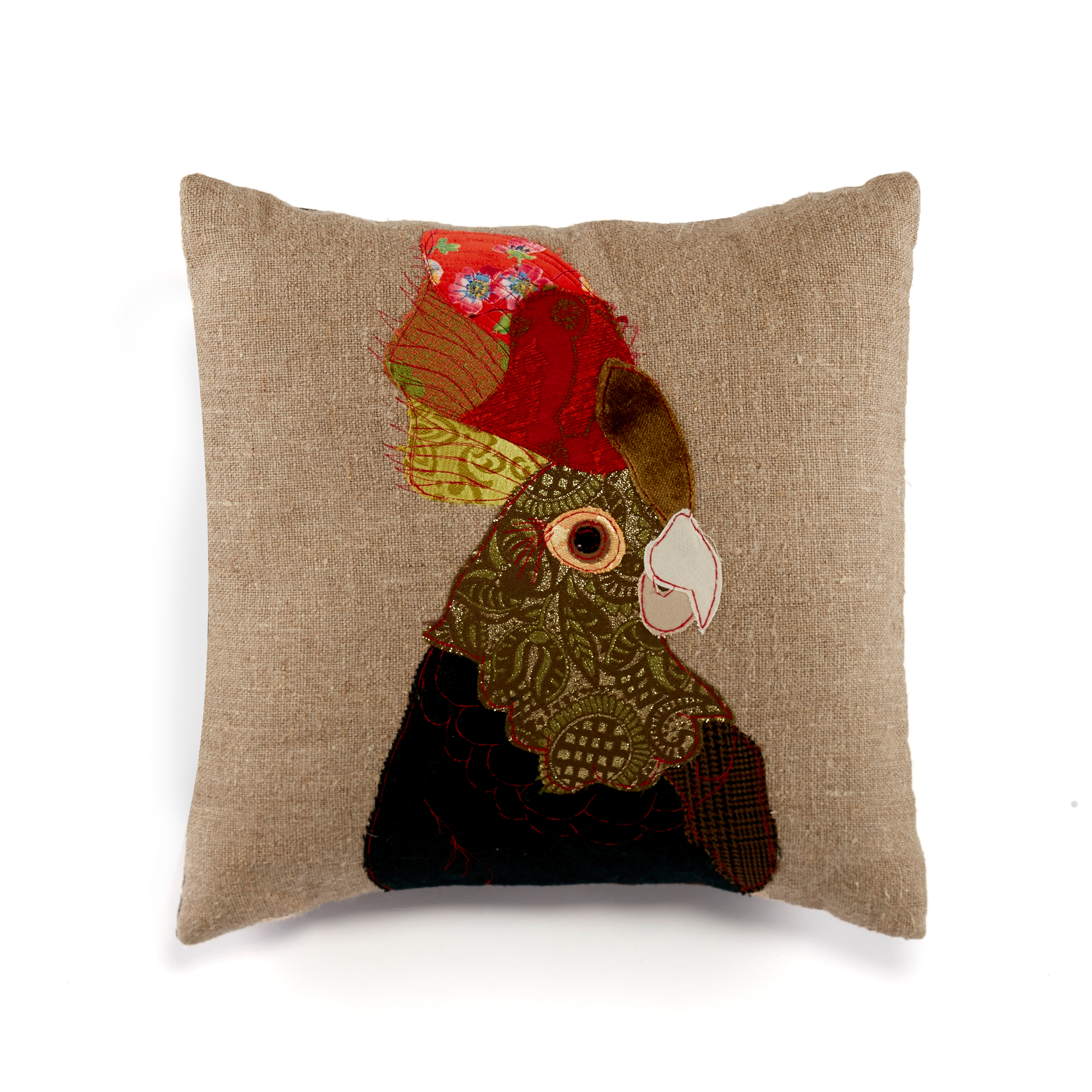 Carola Van Dyke Green Cockatoo Pillow