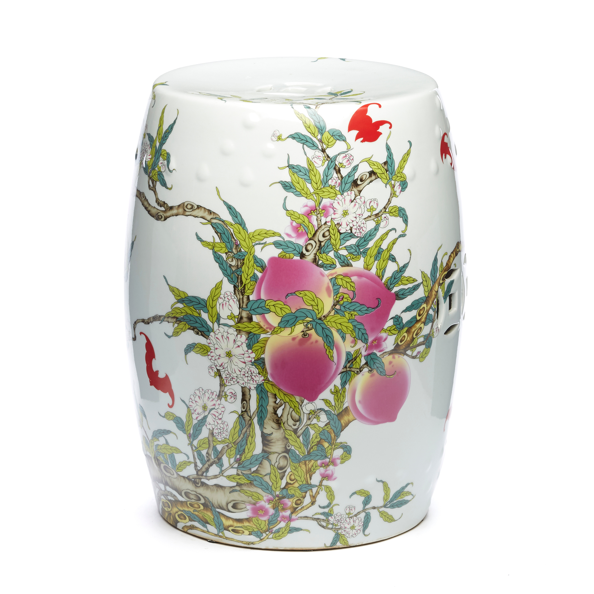 Longevity Peach Dynasty Garden Stool