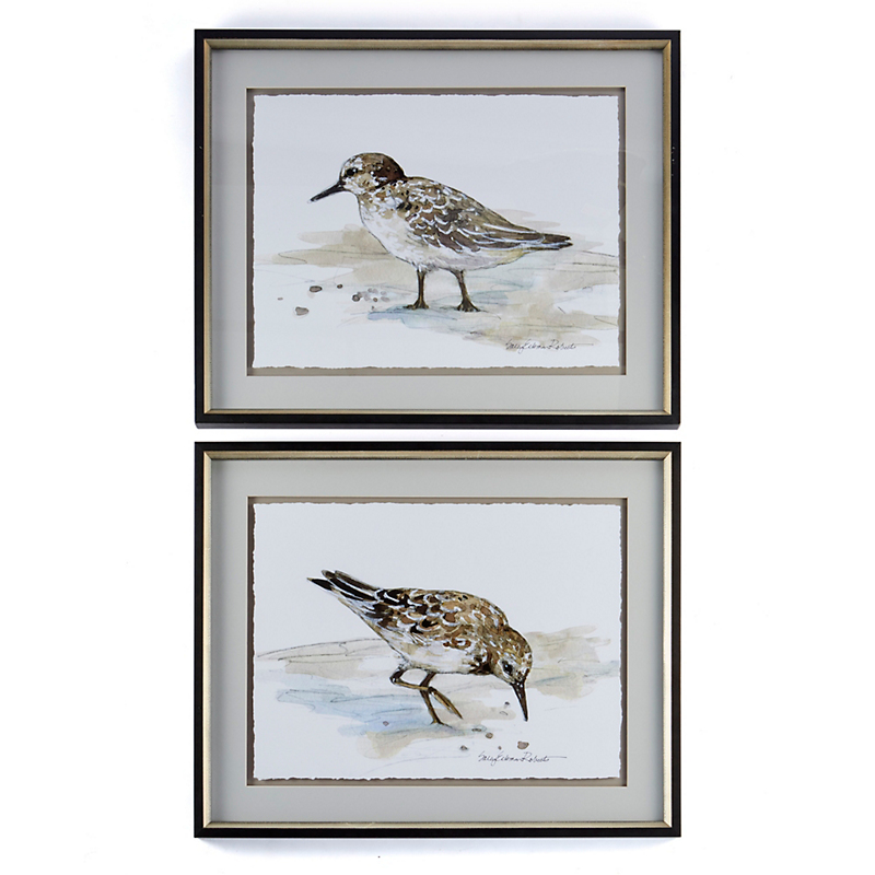 Sandpiper Artwork, Set Of 2