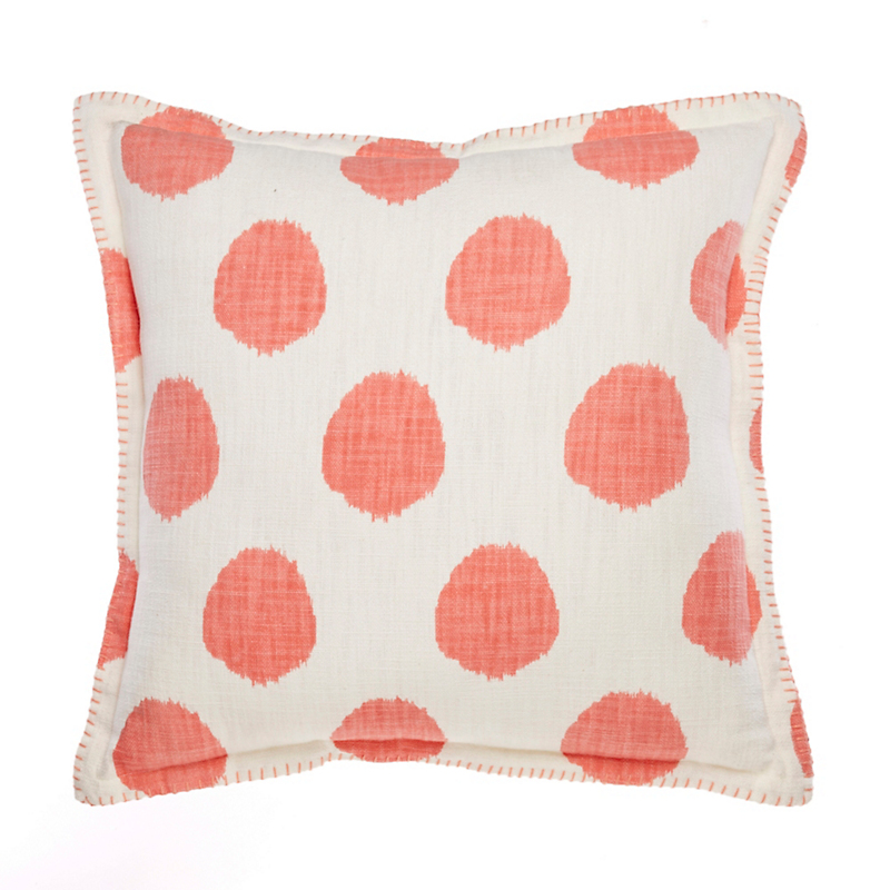 Coral Dot Pillow