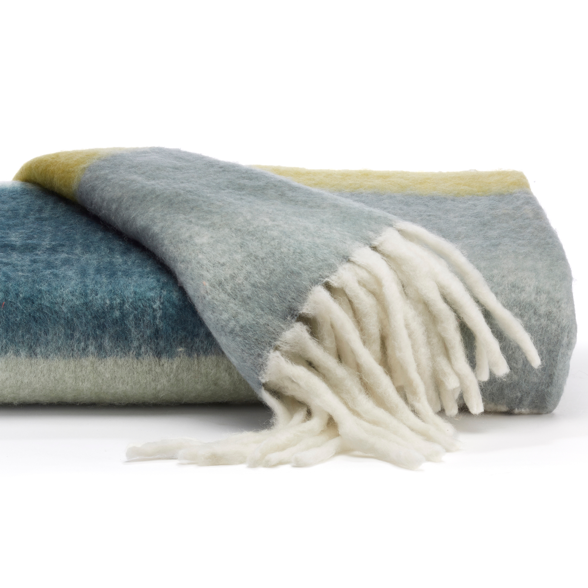 Blue & Green Ombré Throw