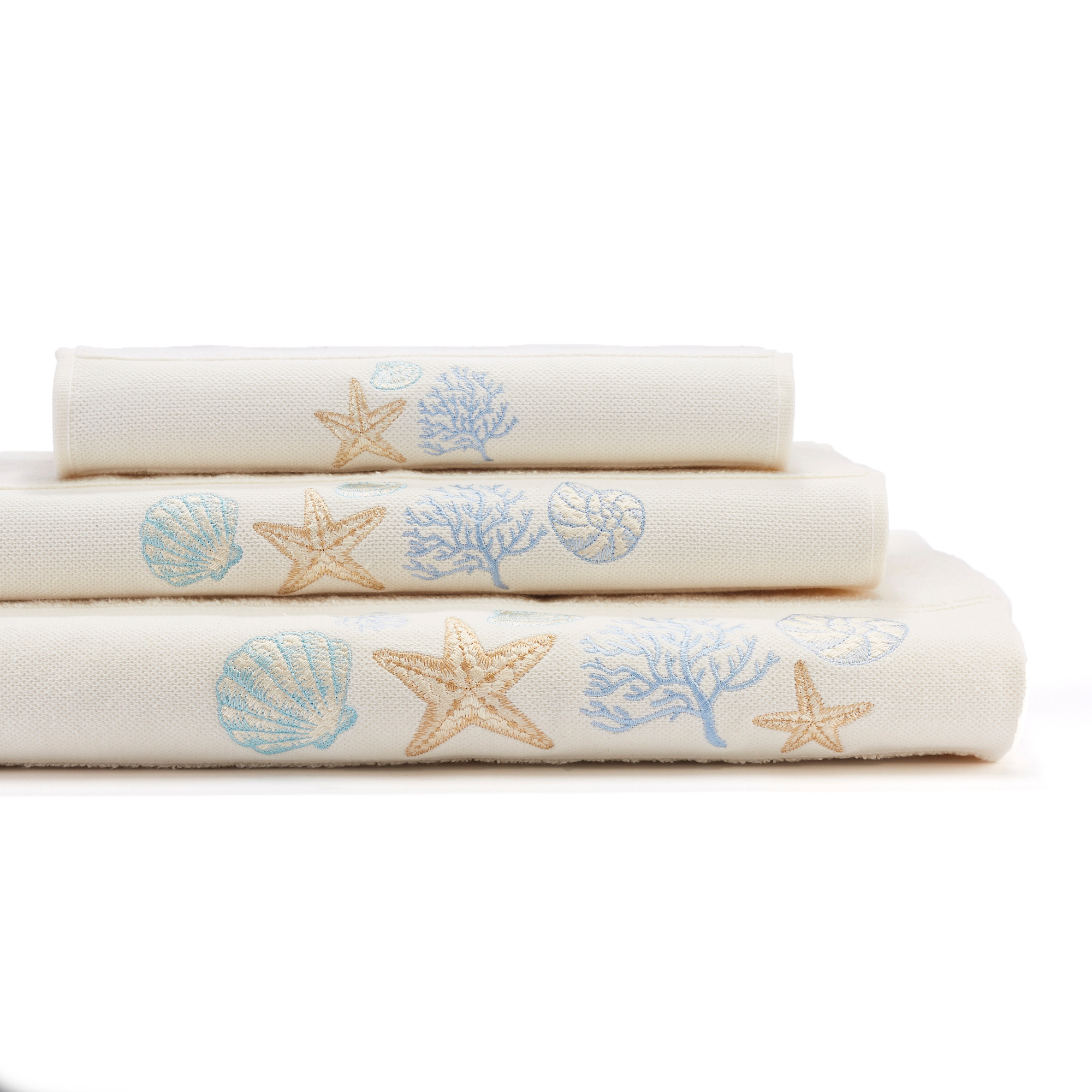 Seashell Treasures Bath Towels