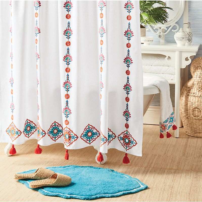 Rabat Tassel Shower Curtain
