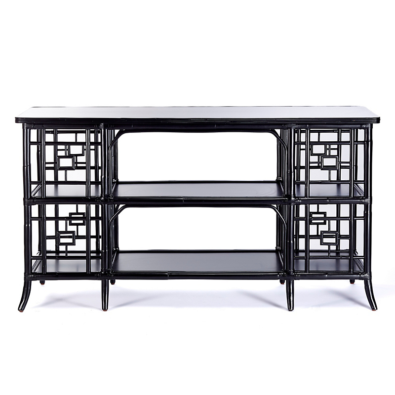 Open Fretwork Console Table