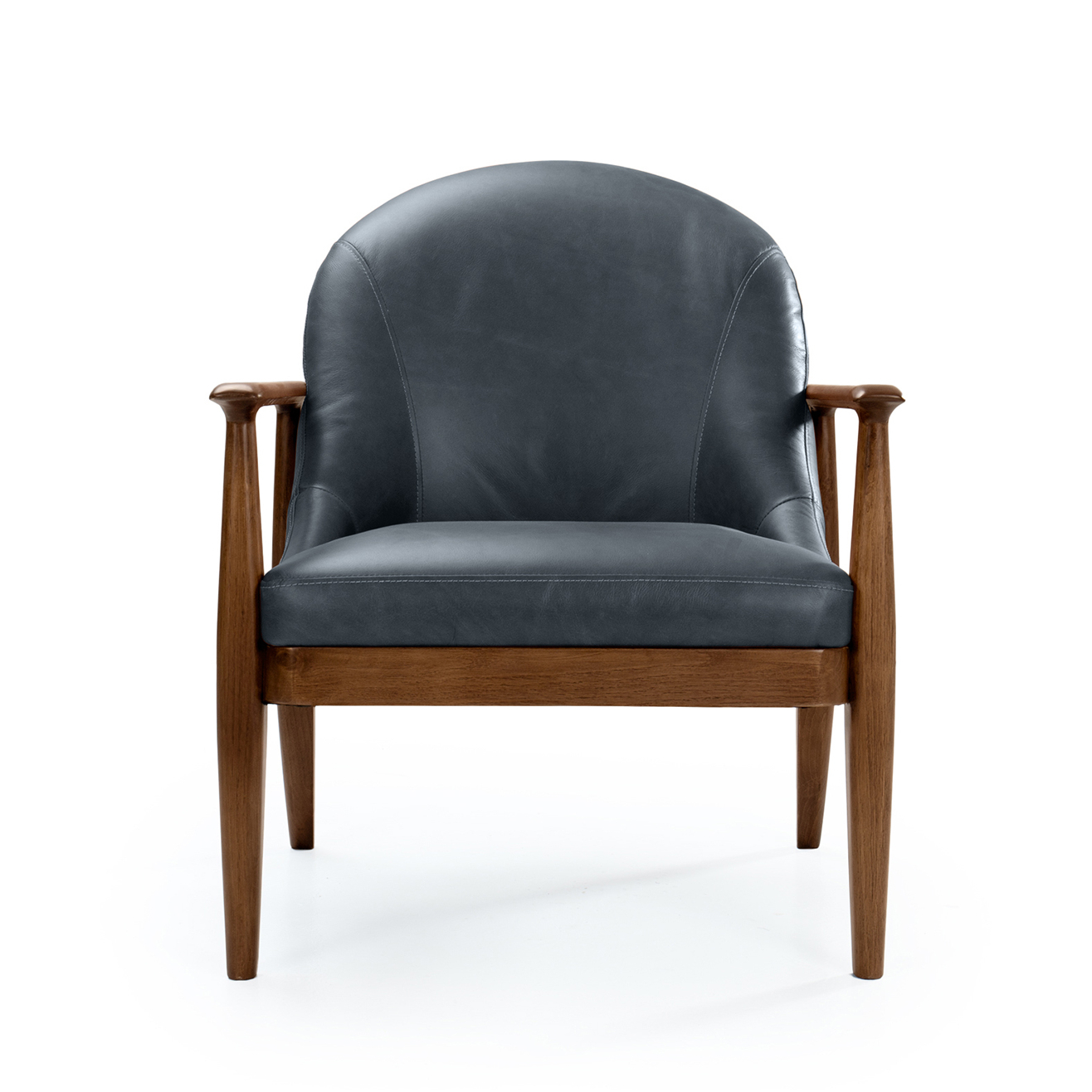 Maria Yee Maria Yee Elena Leather Chair, Azure