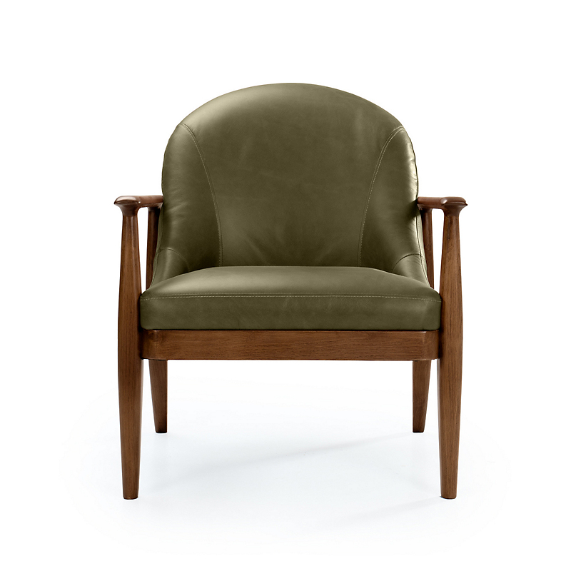 Maria Yee Maria Yee Elena Leather Chair, Fern