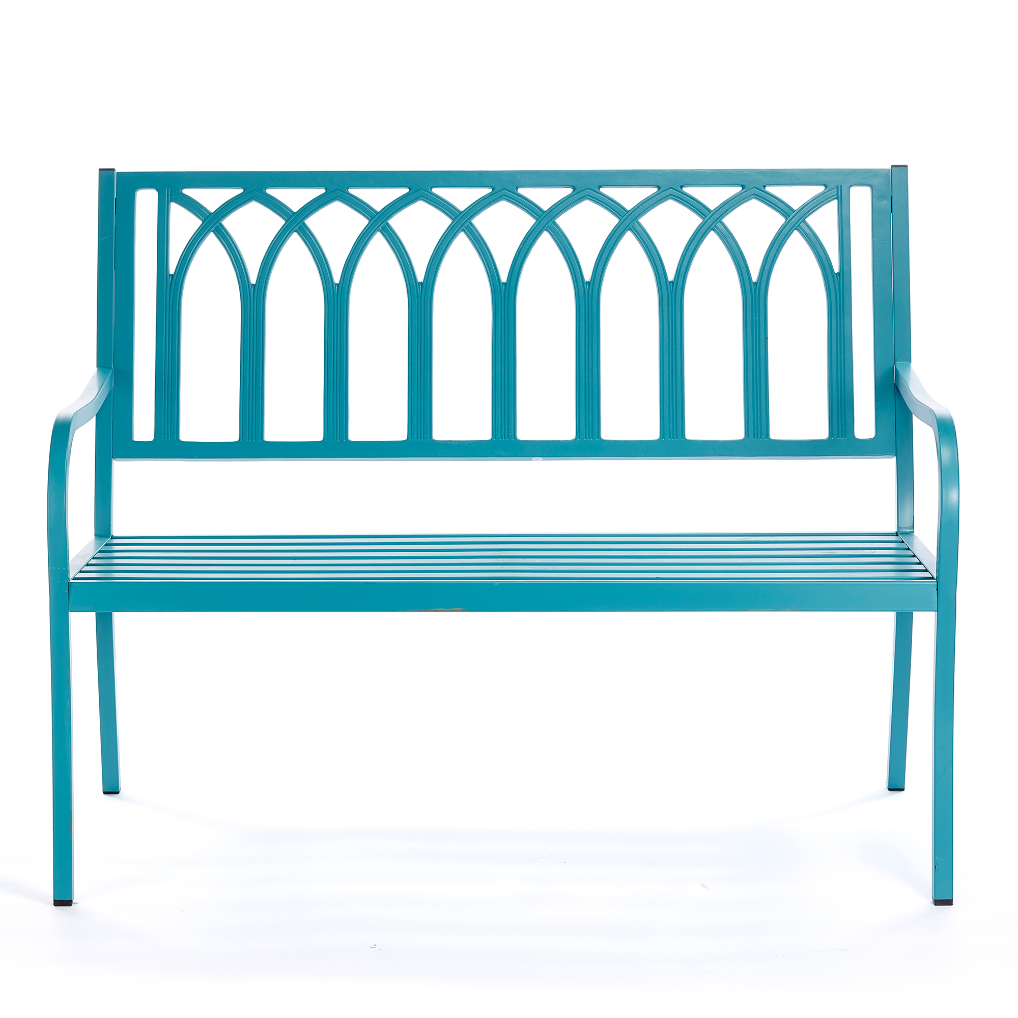 Del Mar Lattice Bench, Turquoise