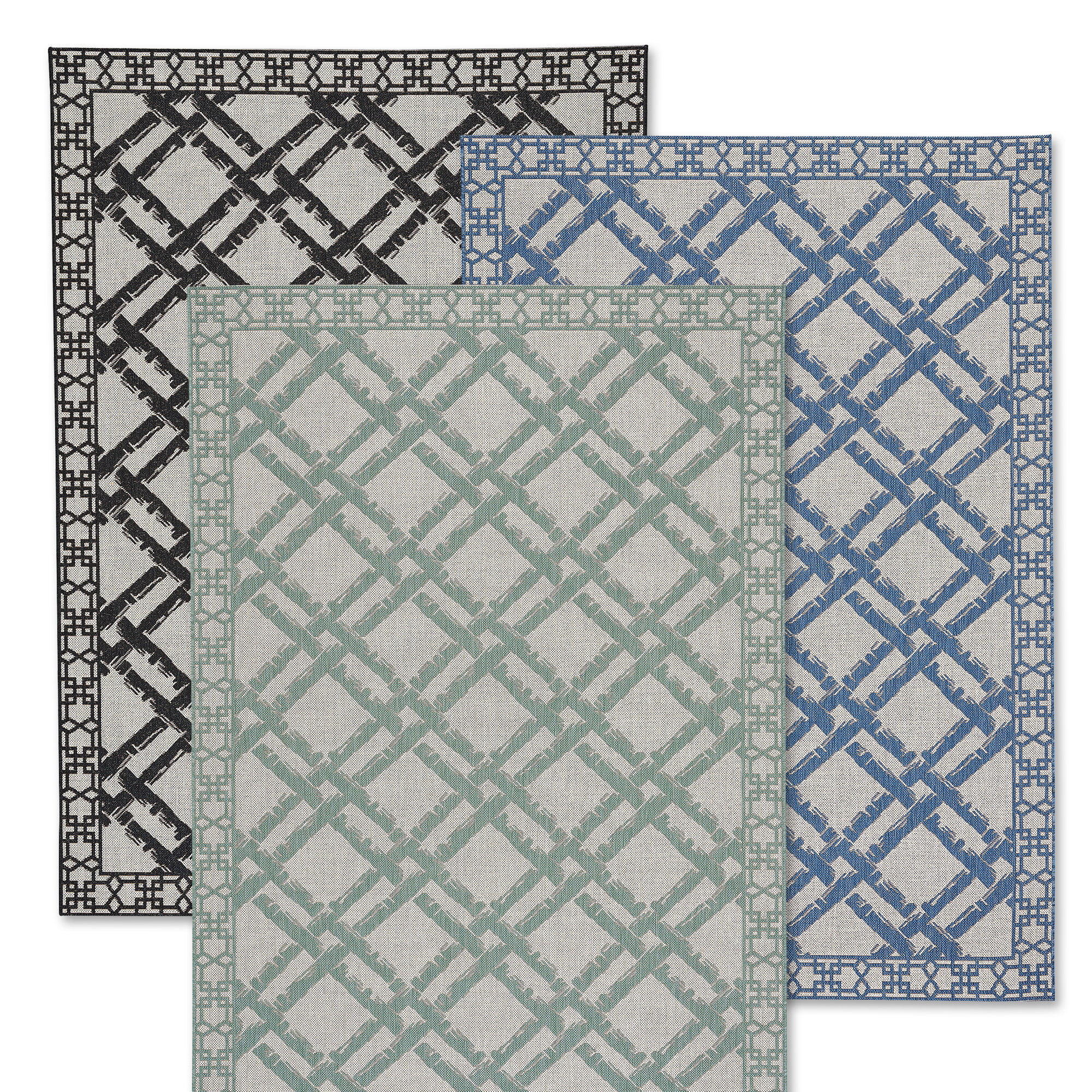 Bamboo Trellis Summer Indoor/Outdoor Rug