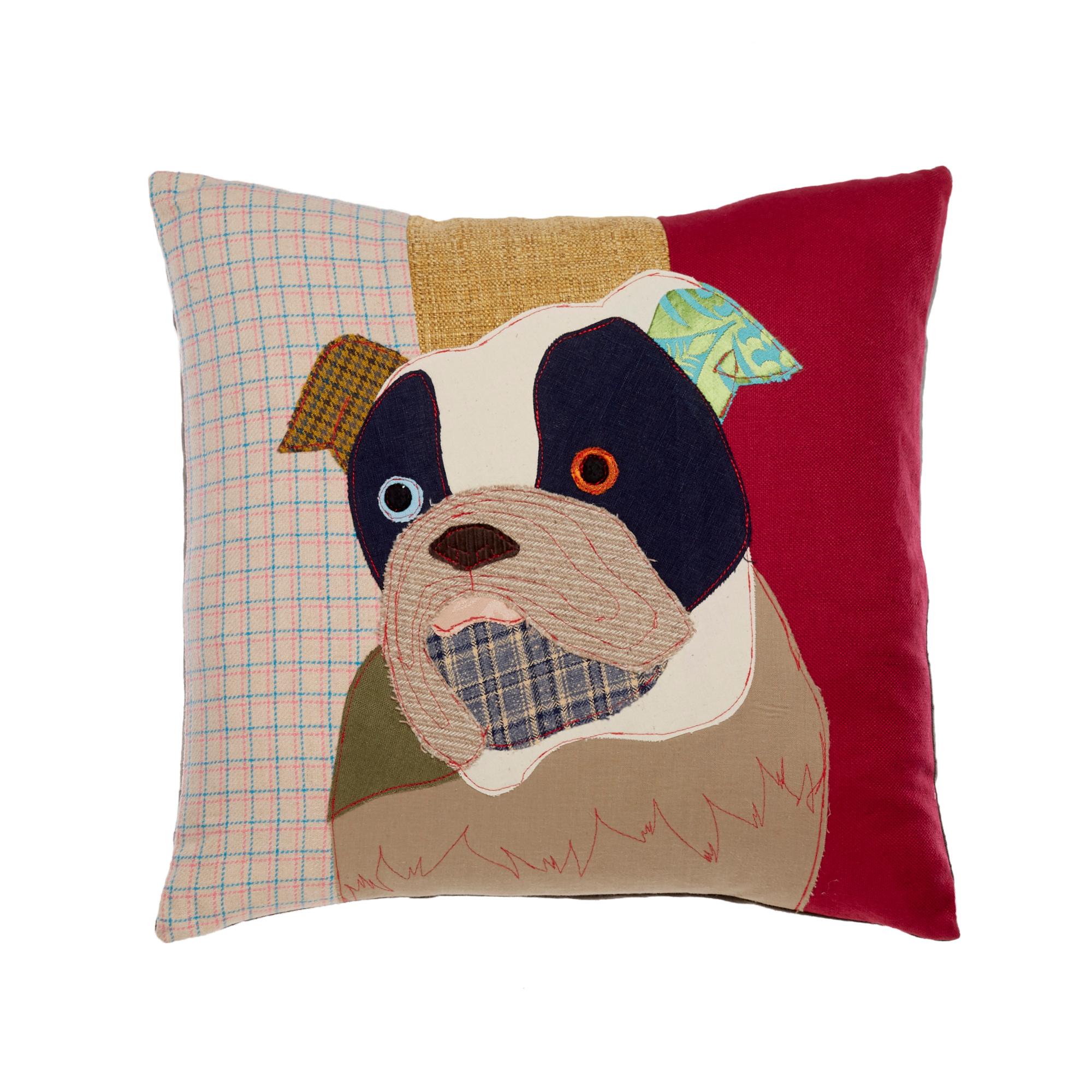 Man's Best Friend Pillow, English Bulldog