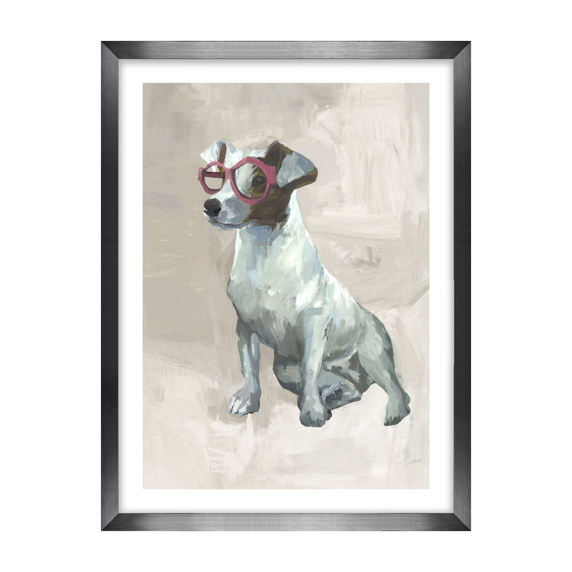 Dogs With Glasses Artwork, Jack Russell