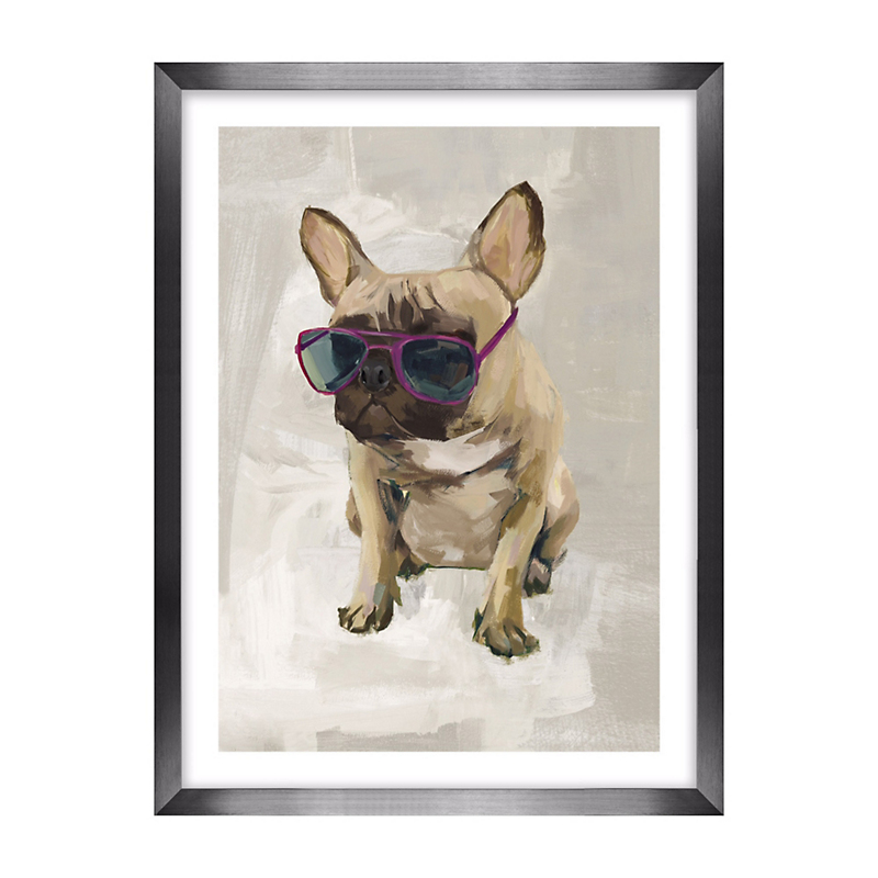 Dogs With Glasses Artwork, French Bulldog