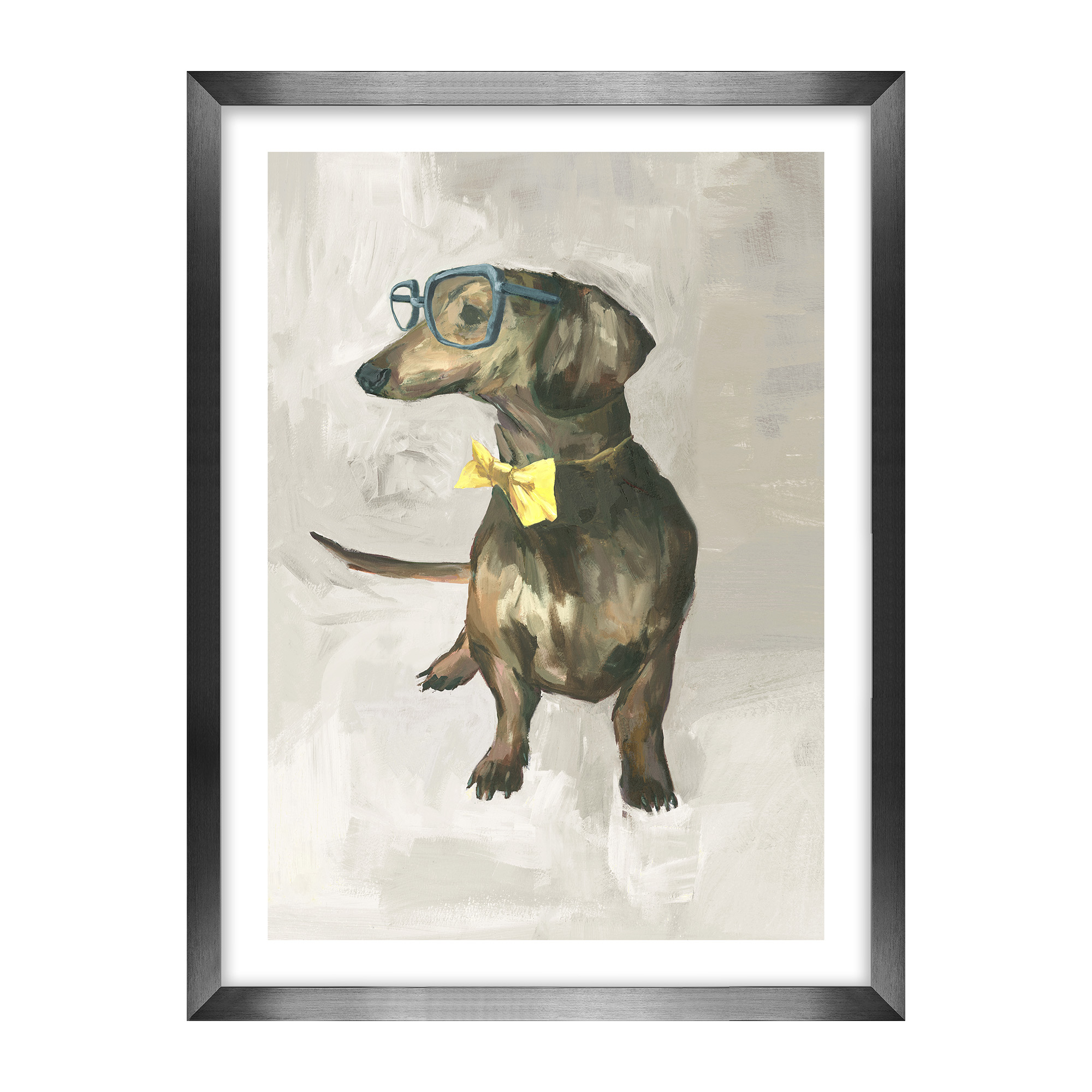 Dogs With Glasses Artwork, Dachshund