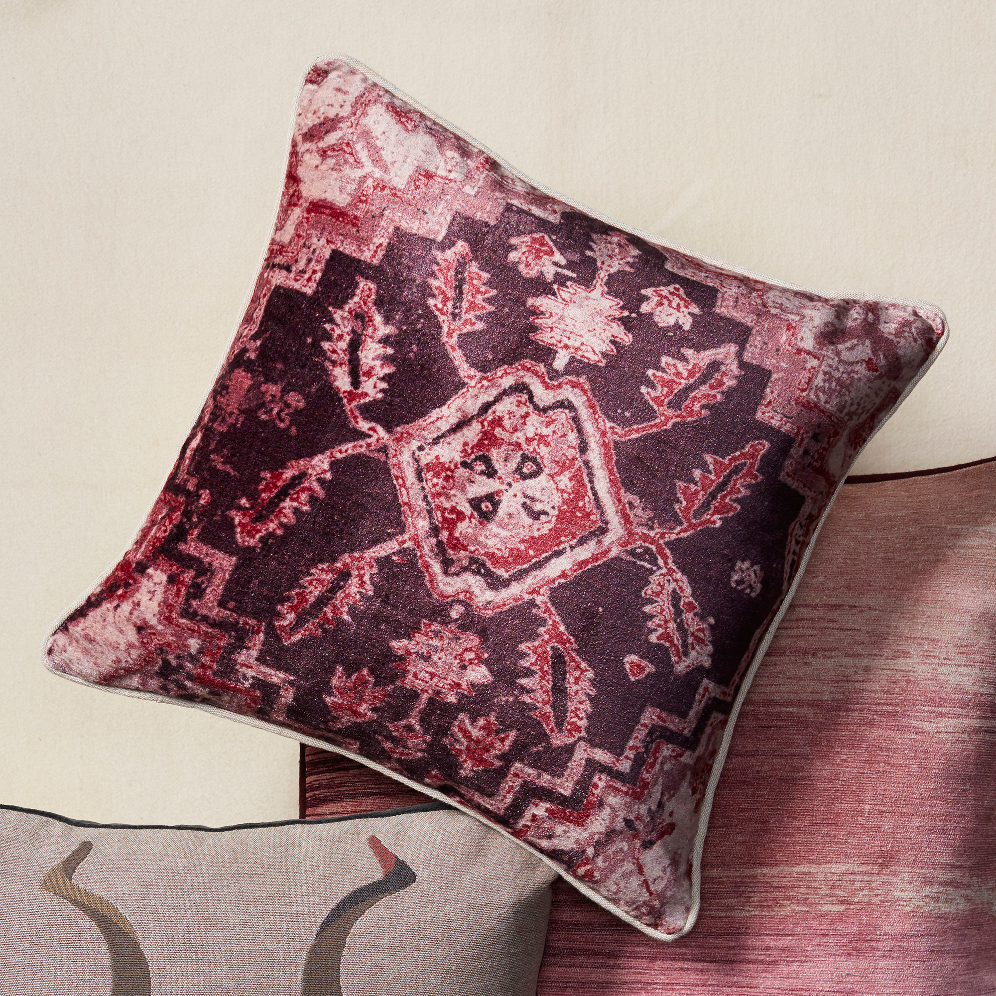 First Blush Pillow, Turkish Medallion