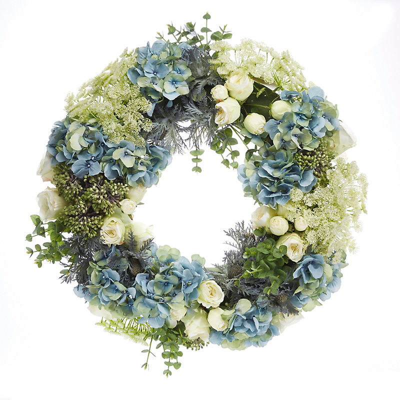 Coastal Blue Hydrangea Wreath
