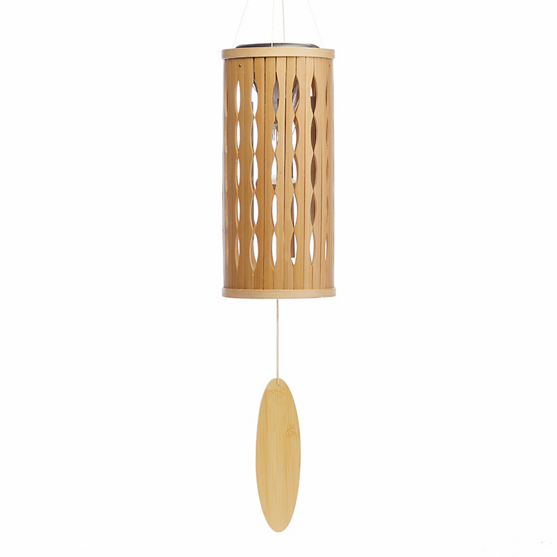Bamboo Wind Chime With Solar Light