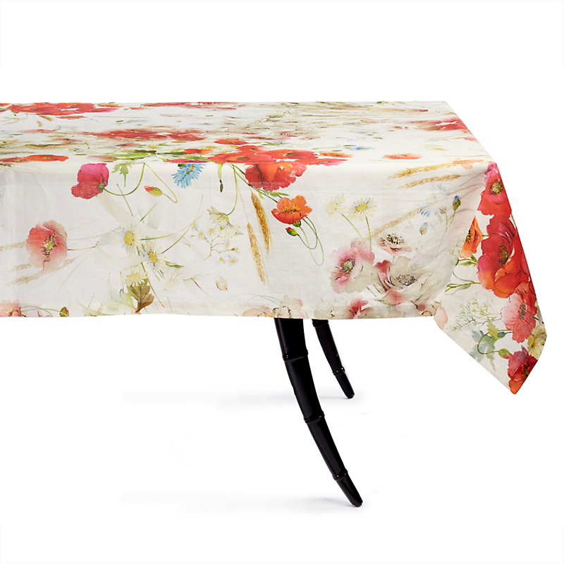 Poppy Linen Tablecloth