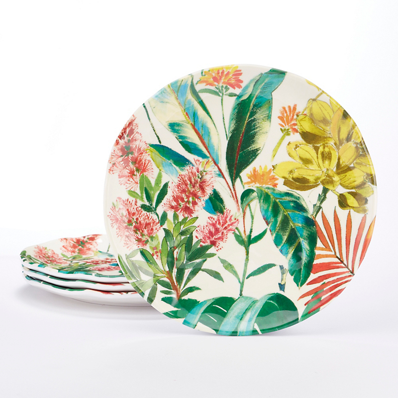 New Tropical Garden Melamine Dinnerware  sc 1 st  Gumpu0027s : everyday china dinnerware - Pezcame.Com