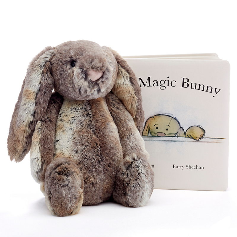 Bashful Woodland Bunny & Book Set