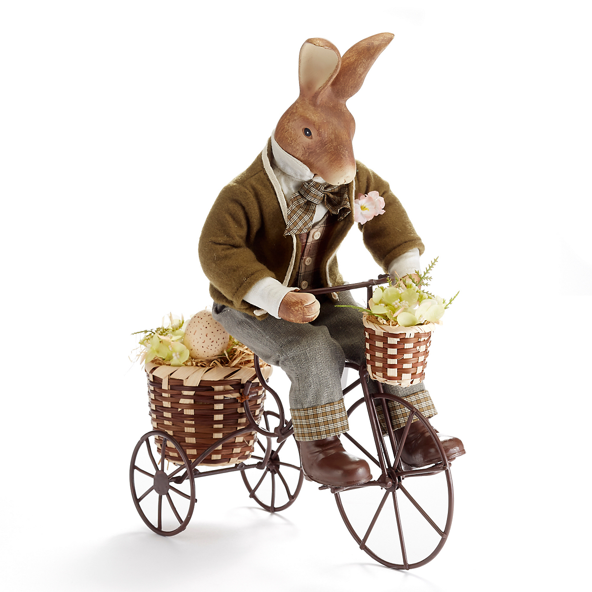 English Countryside Bunny On Bicycle