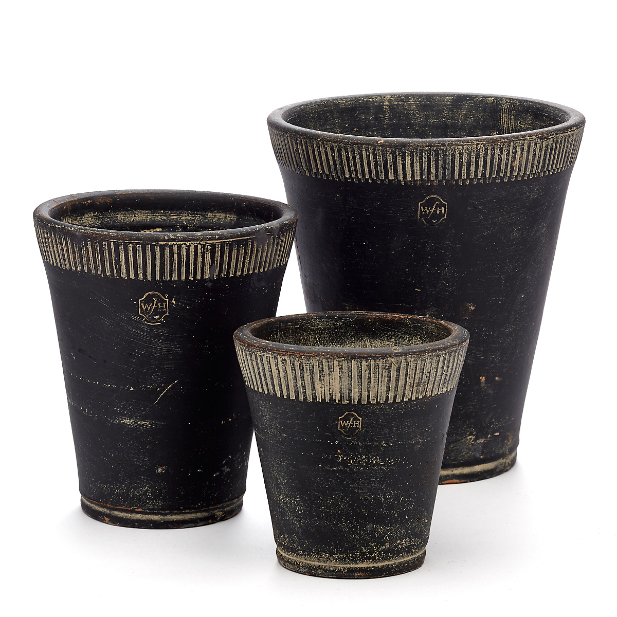 Long Tom Black Pots, Set Of 3