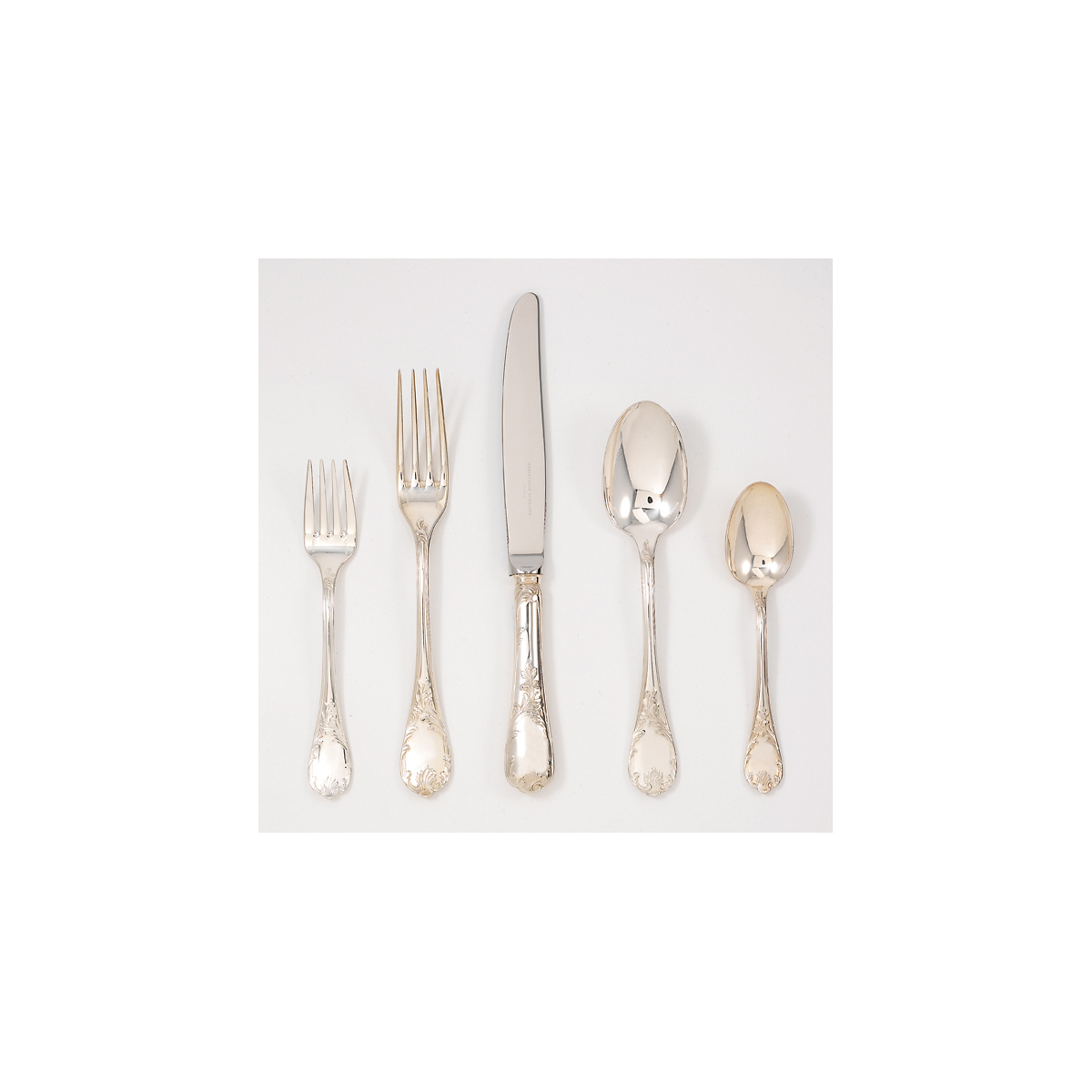 christofle marly silver plate flatware gump 39 s. Black Bedroom Furniture Sets. Home Design Ideas