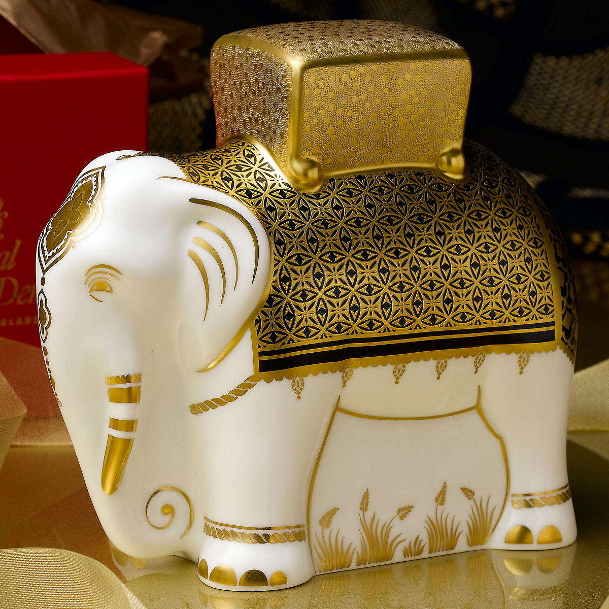 Royal Crown Derby Aura Father Elephant