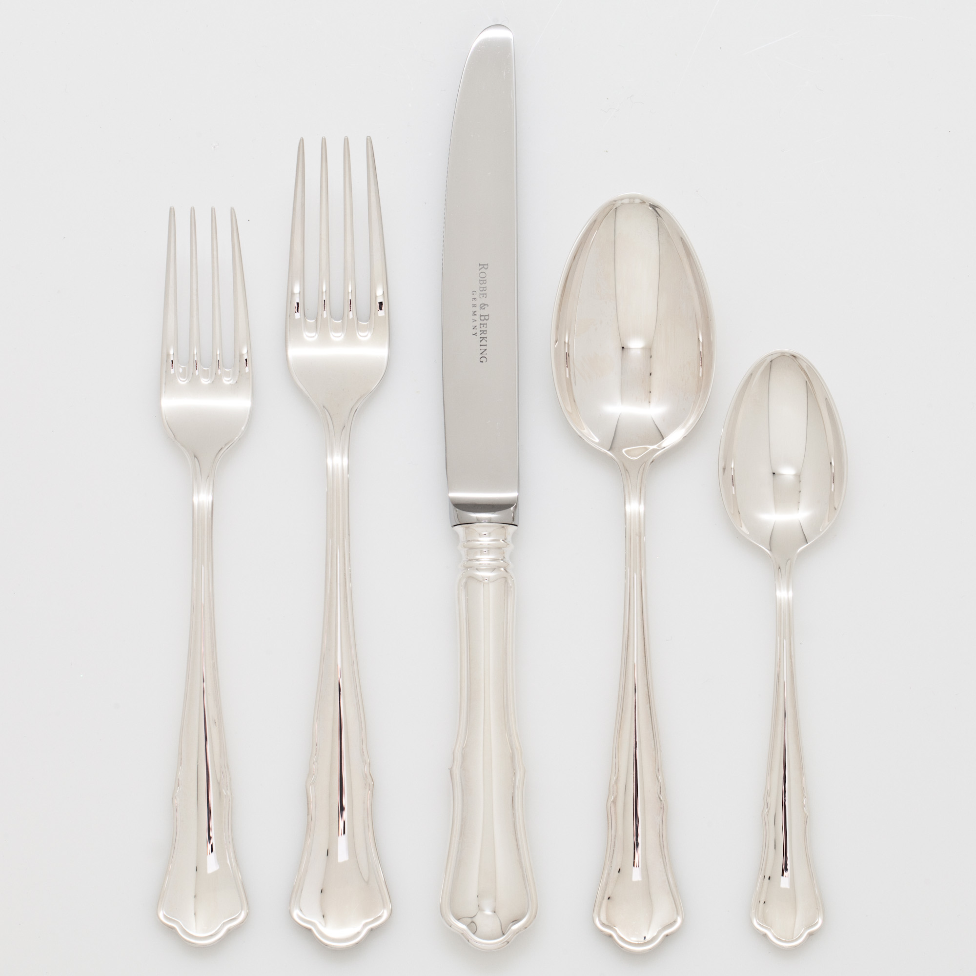 Robbe & Berking Alt Silver Plate Chippendale Flatware