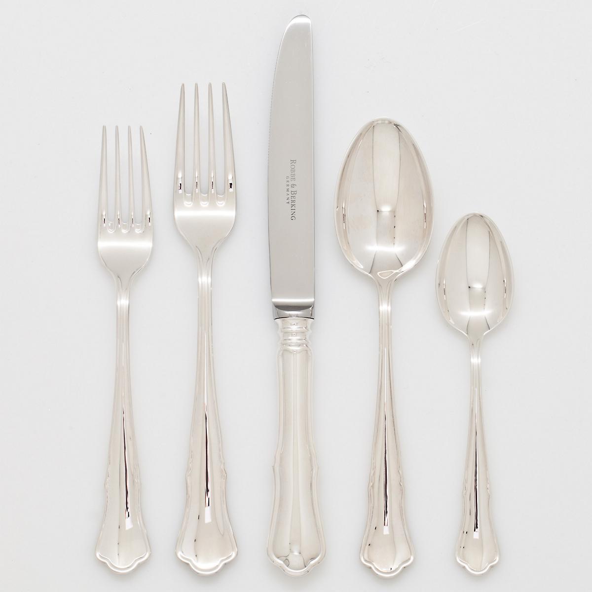 robbe berking alt silver plate chippendale flatware gump 39 s. Black Bedroom Furniture Sets. Home Design Ideas