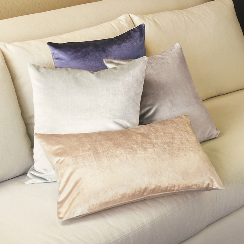 Sabine Cool Velvet Pillows