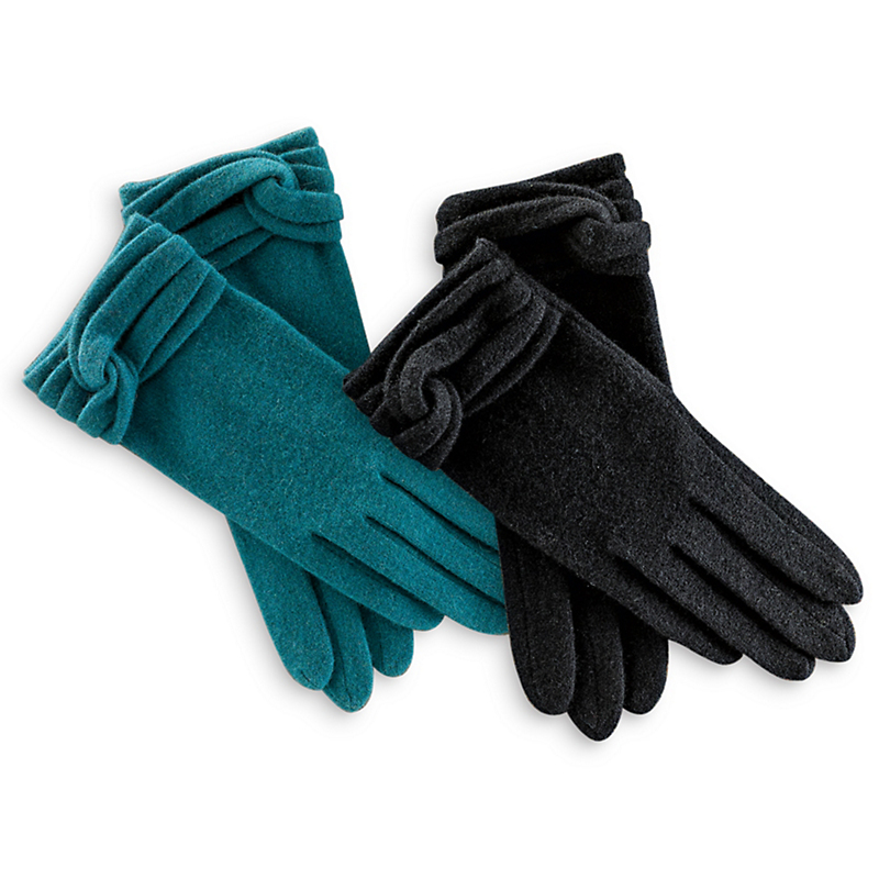 Knotted Wool Gloves