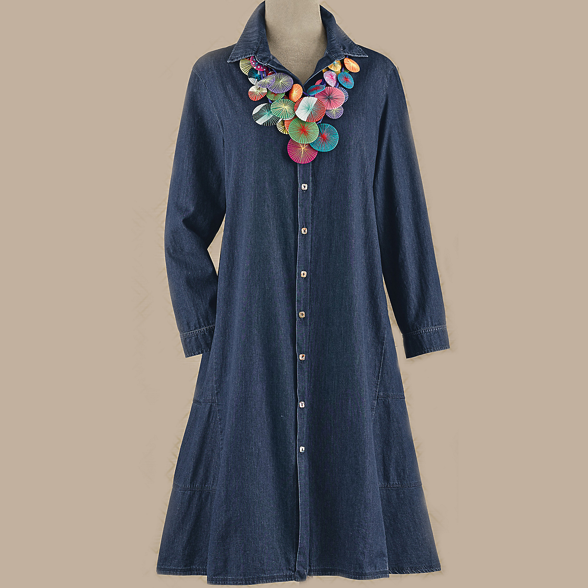 Andrea Denim Shirtdress