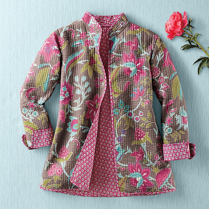 Reversible Kerala Quilted Jacket