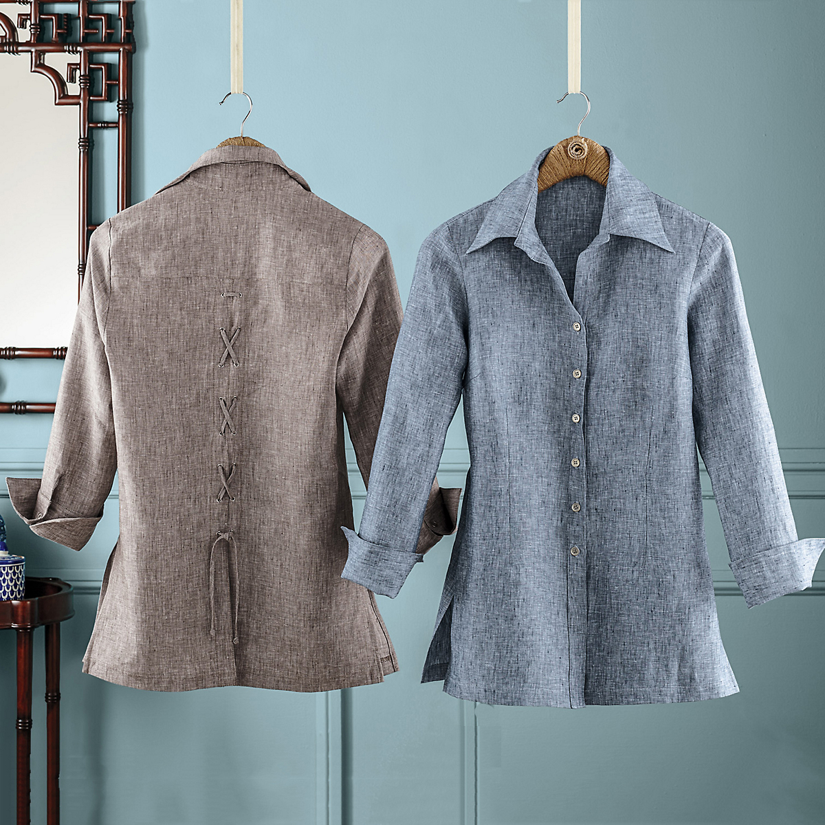 Carolyn Linen Tie-Back Shirt-Jacket