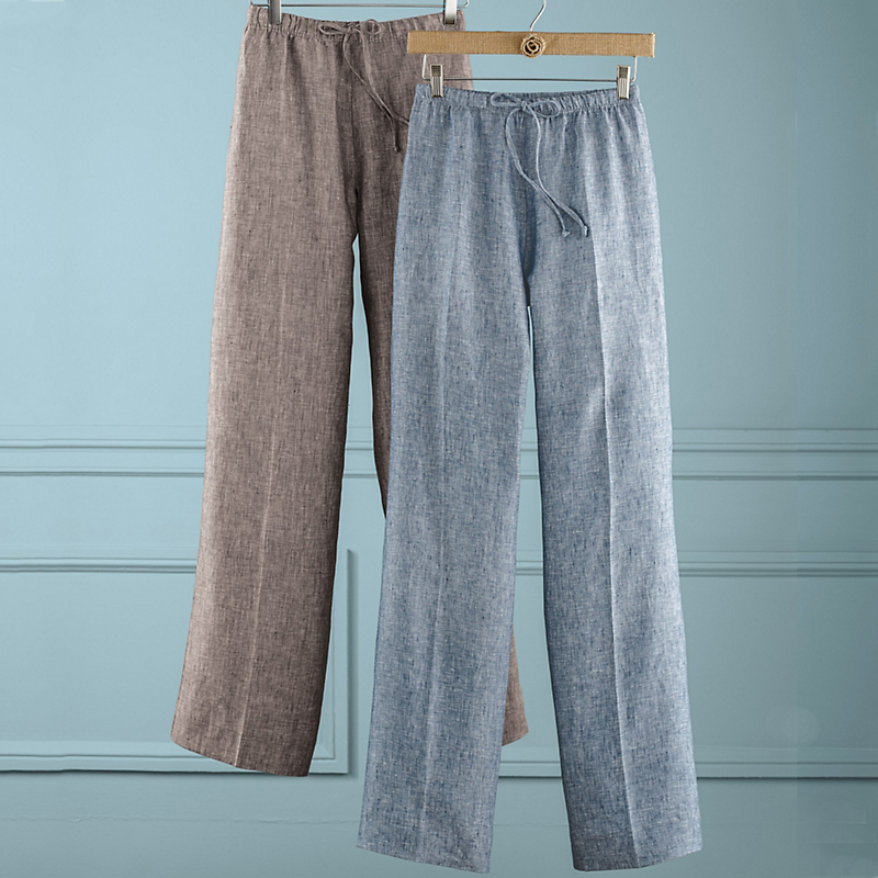 Carolyn Linen Drawstring Pants