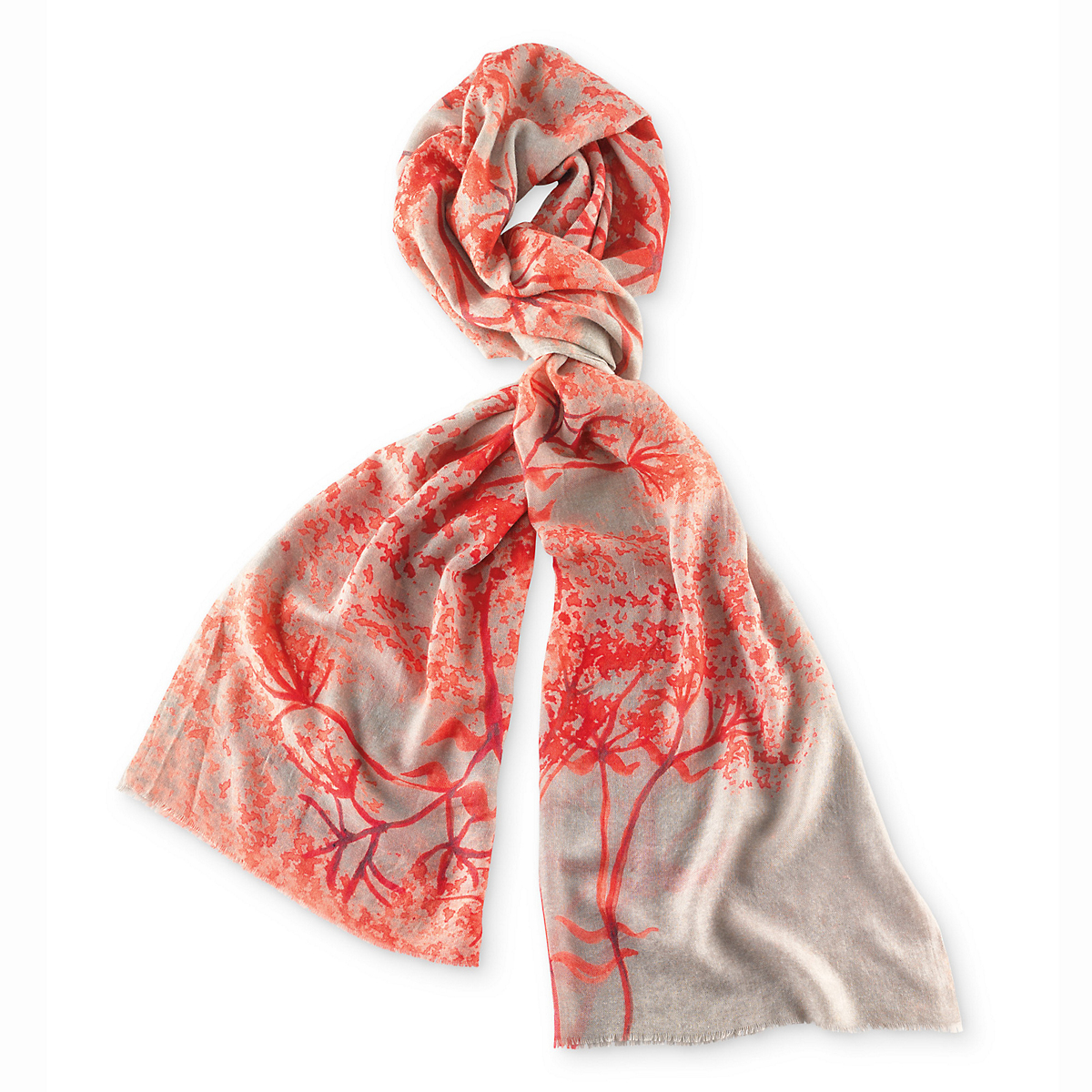 Coral Branches Scarf