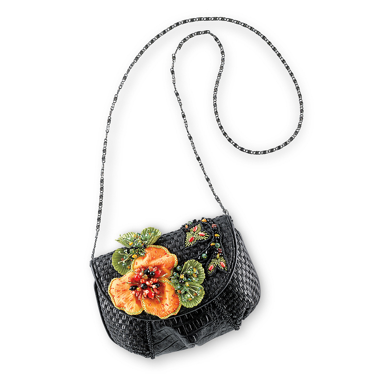 Mary Frances Floral Crossbody Bag