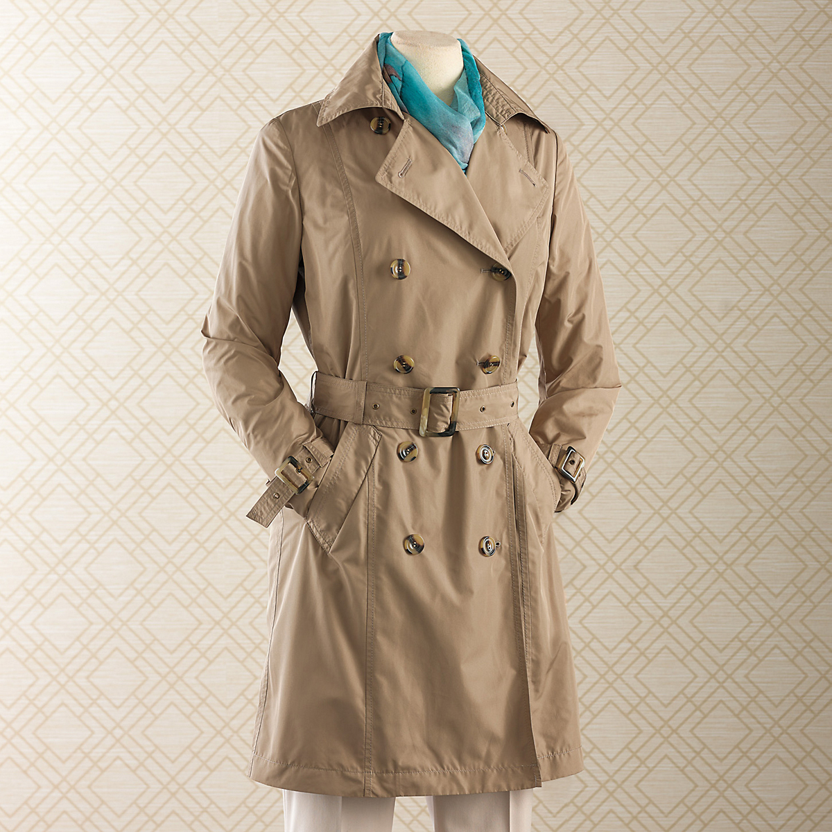 Coatology Packable Trench Coat
