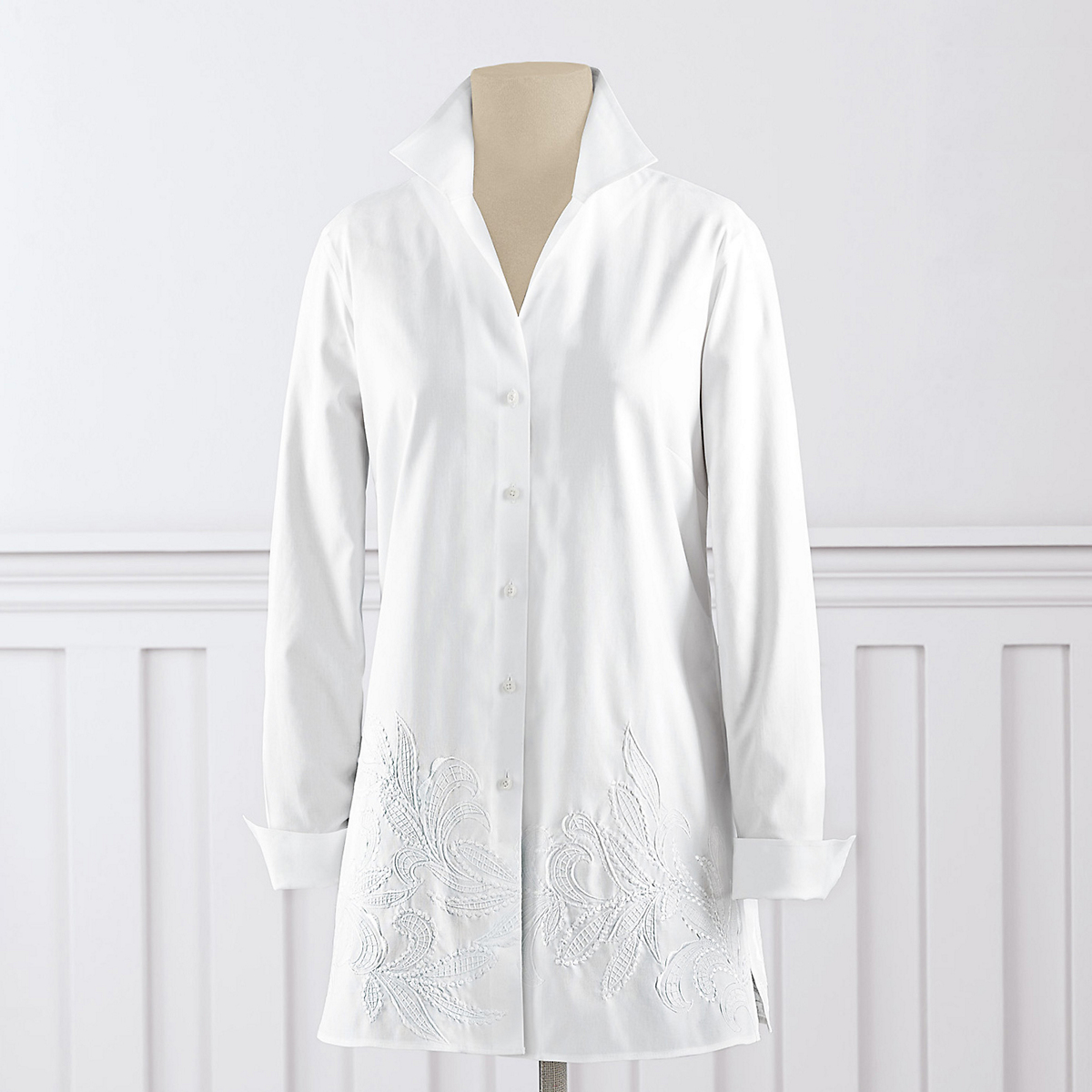 Non-Iron Embroidered Tunic