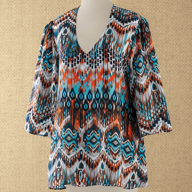 Silk Ikat Blouse