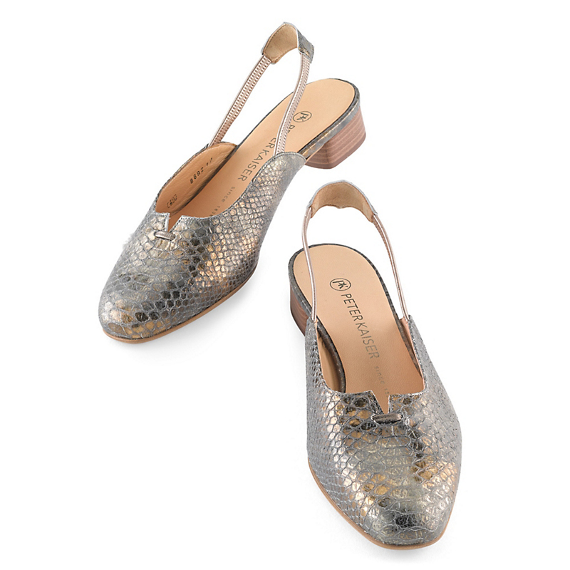 Peter Kaiser Metallic Slingbacks