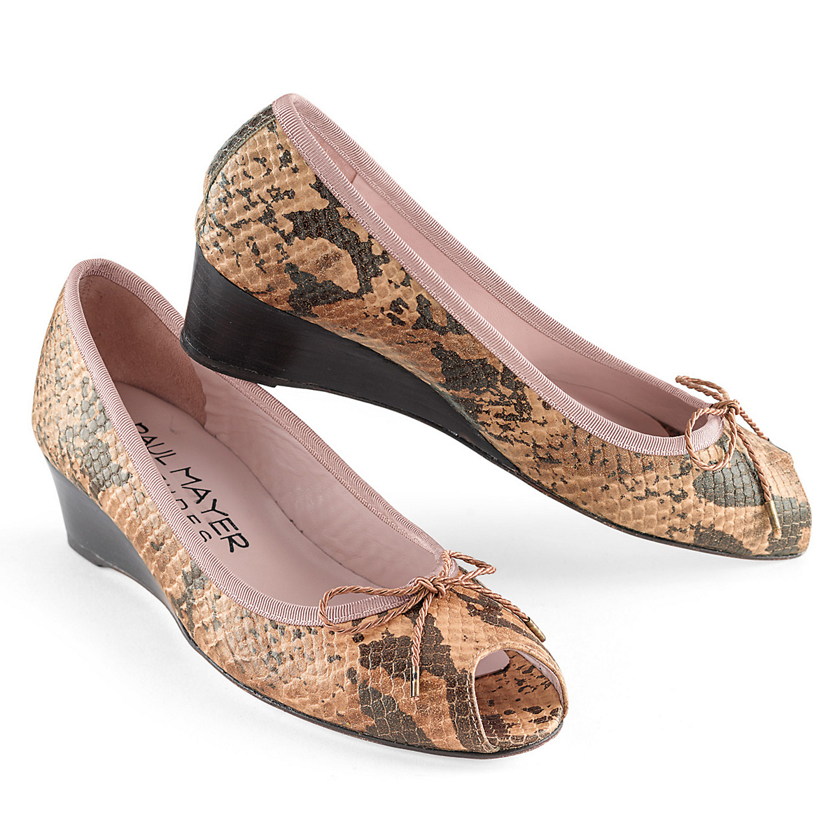 Paul Mayer Safari Peep-Toe Wedges