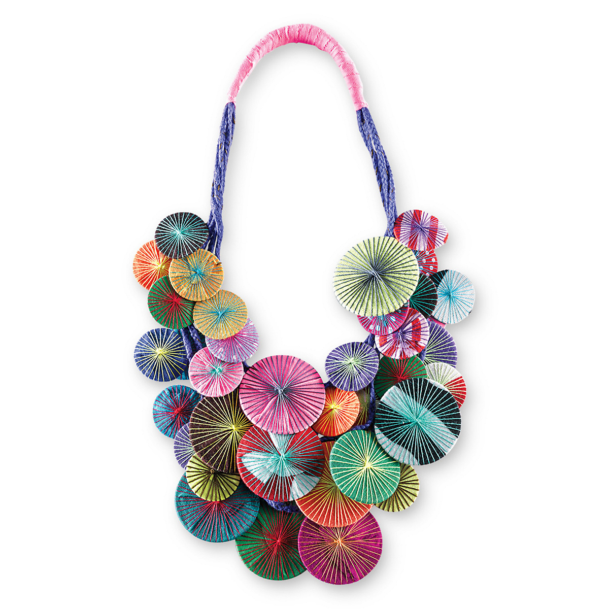 Platillos Necklace, Multi Color