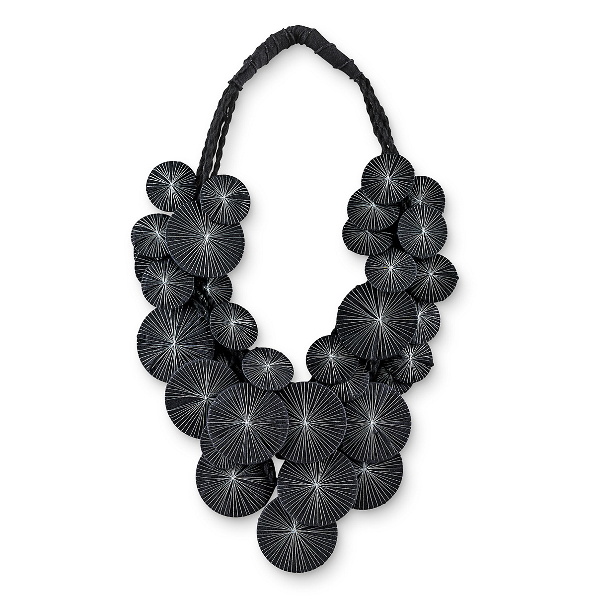 Platillos Necklace, Black