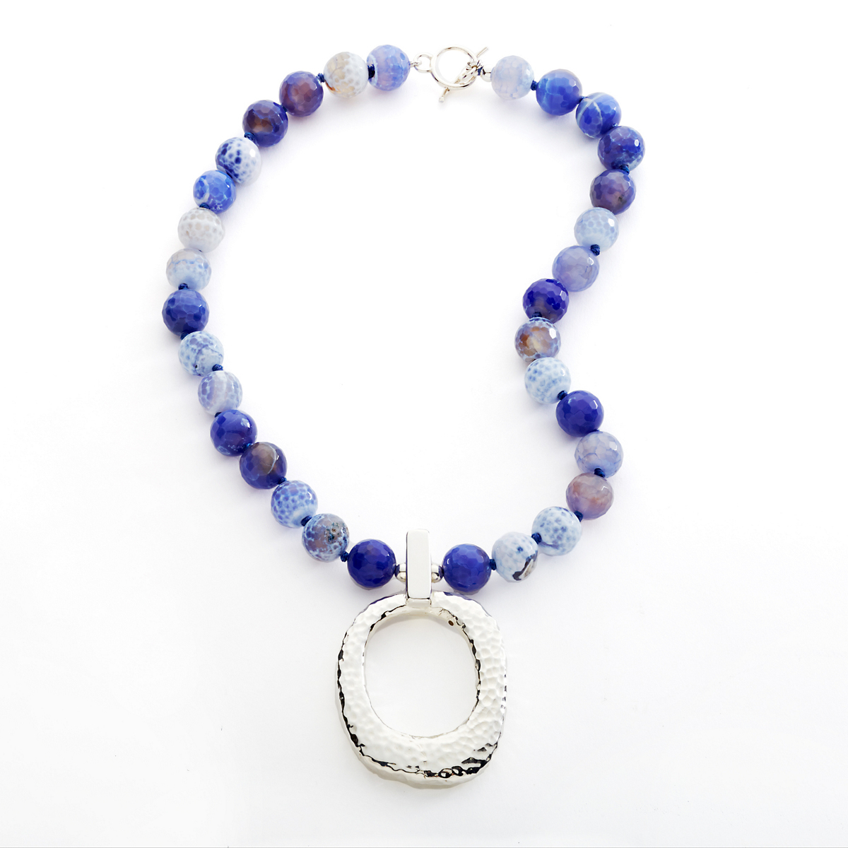Simon Sebbag Blue Fire Agate Necklace