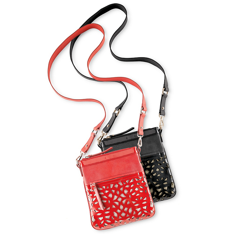 Patent Cutout Crossbody Bag