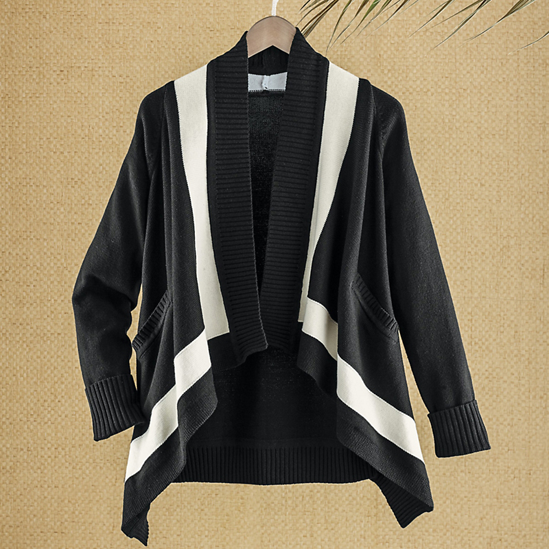 Joan Vass Draped Cardigan