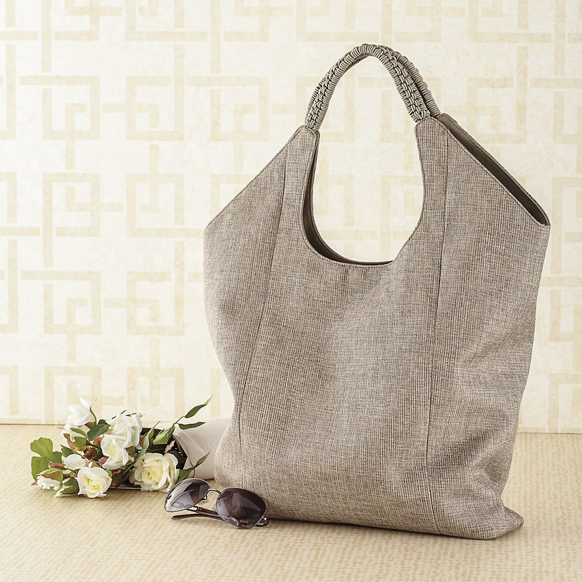 Madison Metallic Market Tote