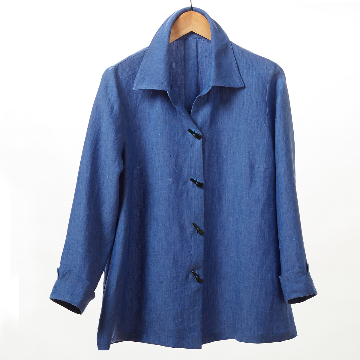 Carol Linen Blouse, Cornflower Blue