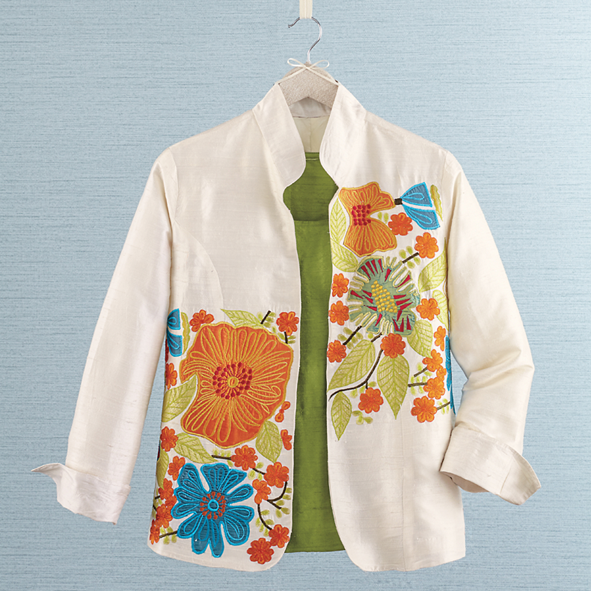 Silk Poppy Jacket