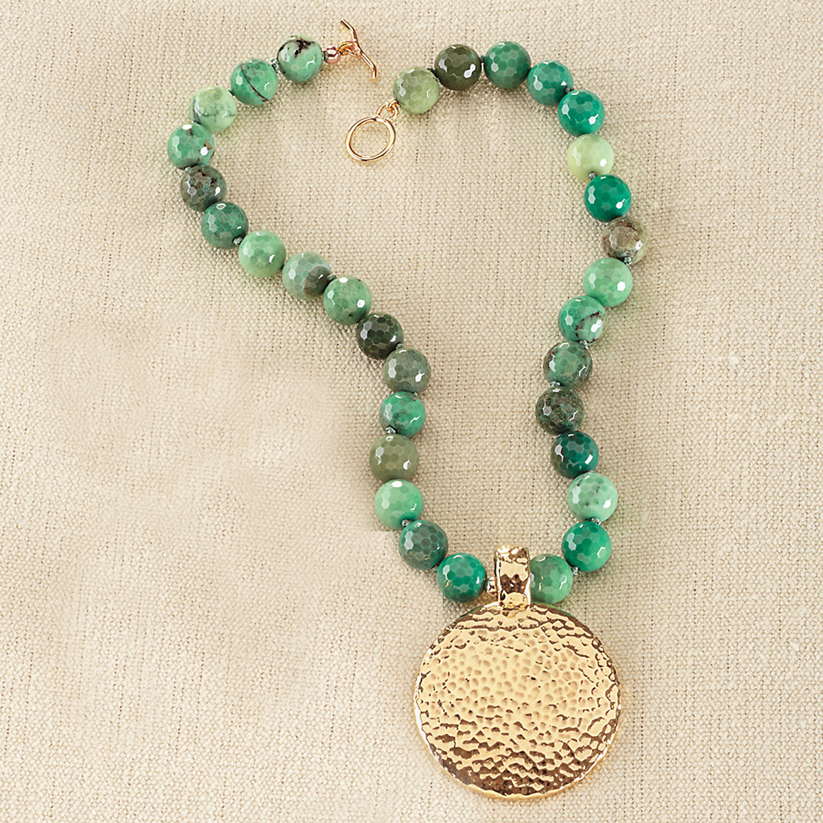 Simon Sebbag Vermeil Chrysoprase Necklace